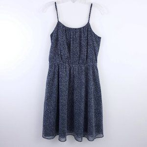 Loft Spaghetti Strap Pattern Pleated Summer Dress